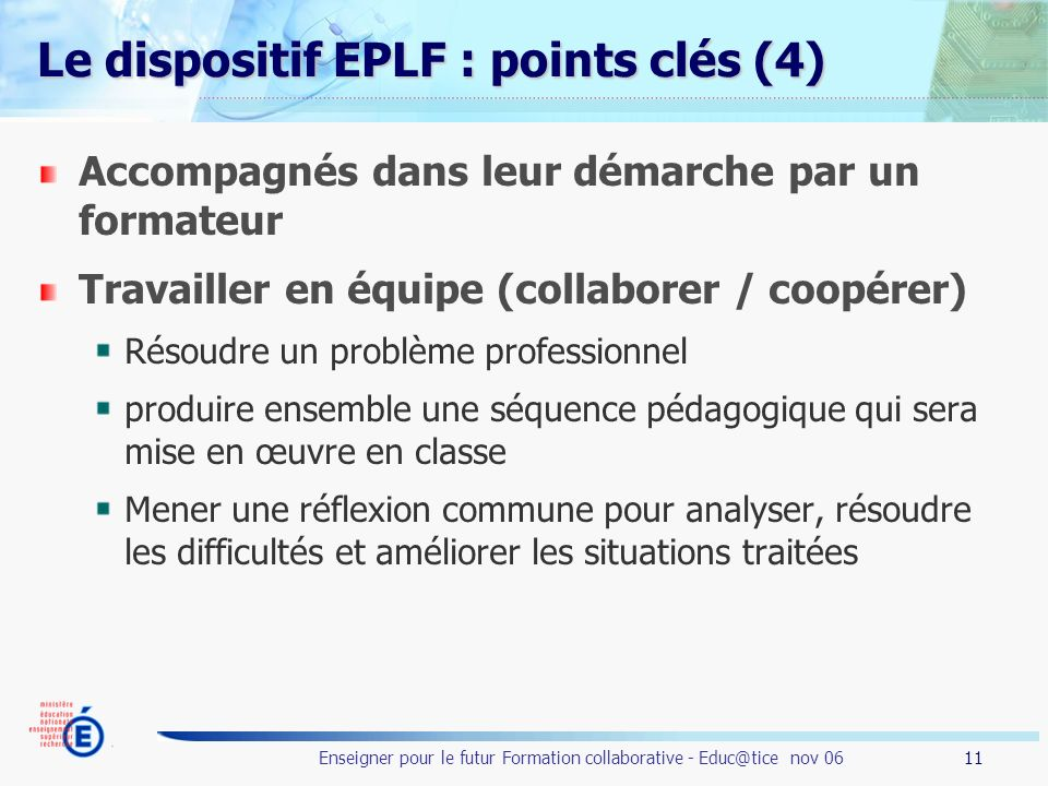 Le dispositif EPLF : points clés (4)