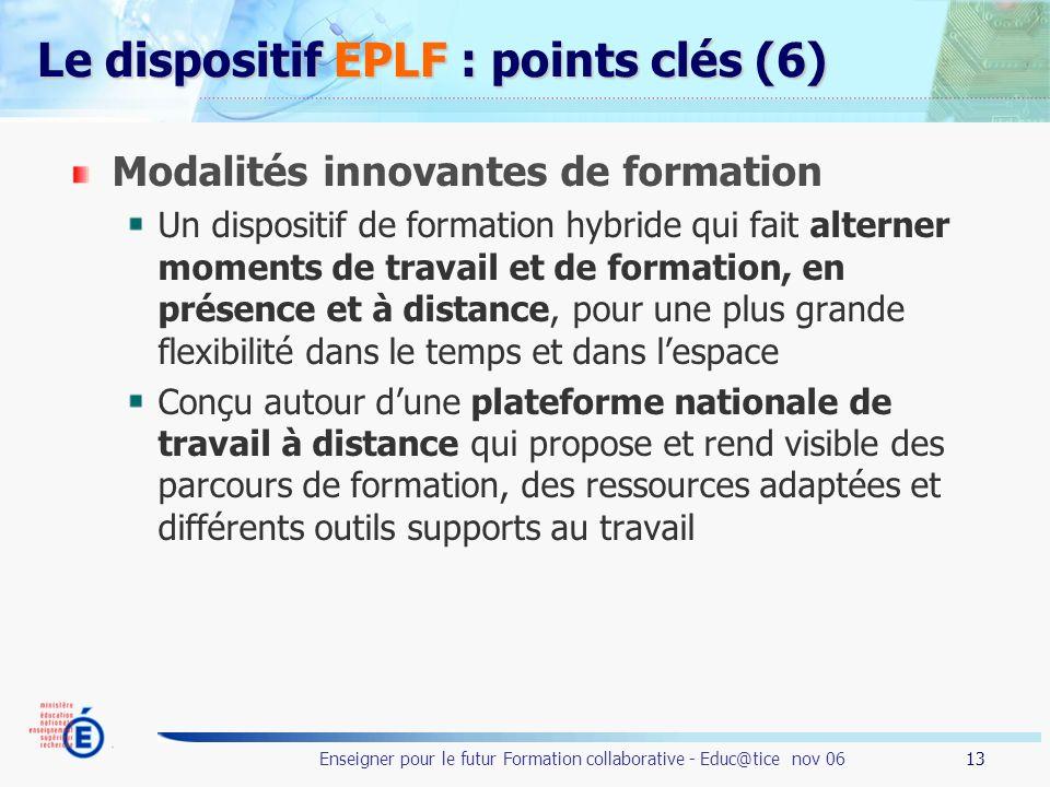 Le dispositif EPLF : points clés (6)