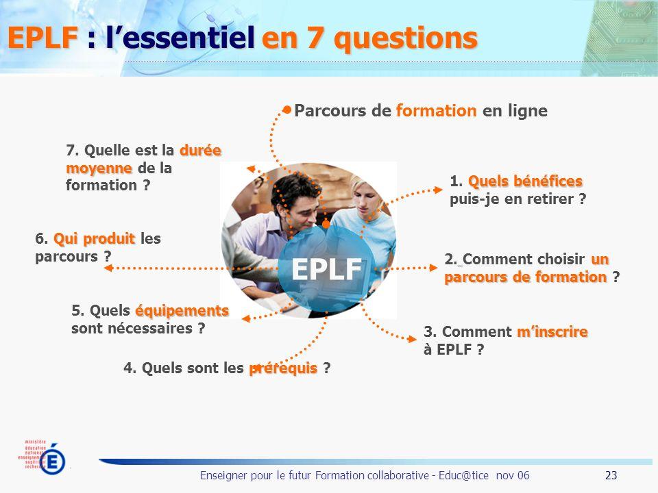 EPLF : l'essentiel en 7 questions