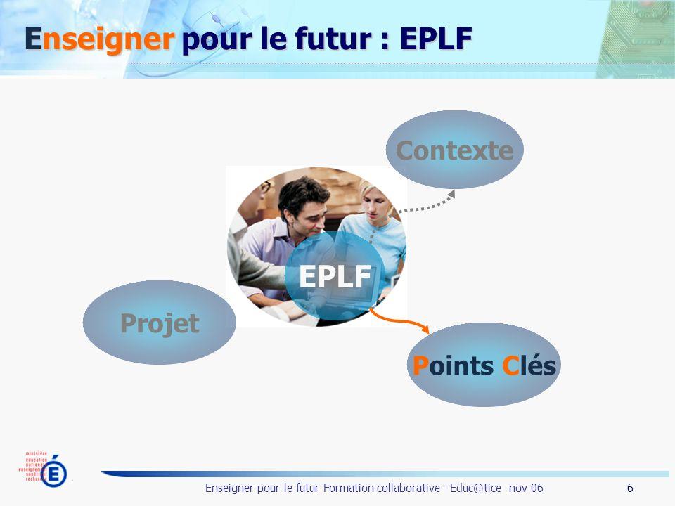 Enseigner pour le futur : EPLF