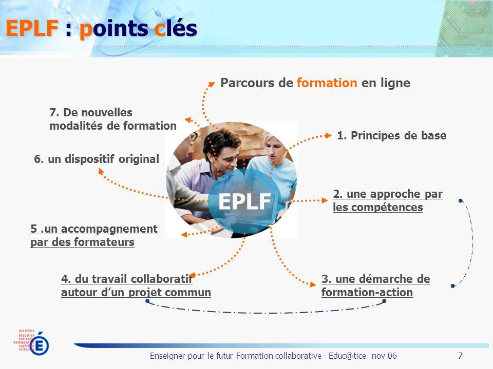 EPLF : points clés EPLF Parcours de formation en ligne