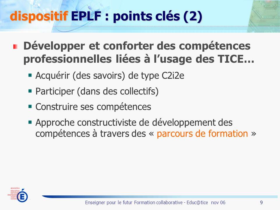 dispositif EPLF : points clés (2)