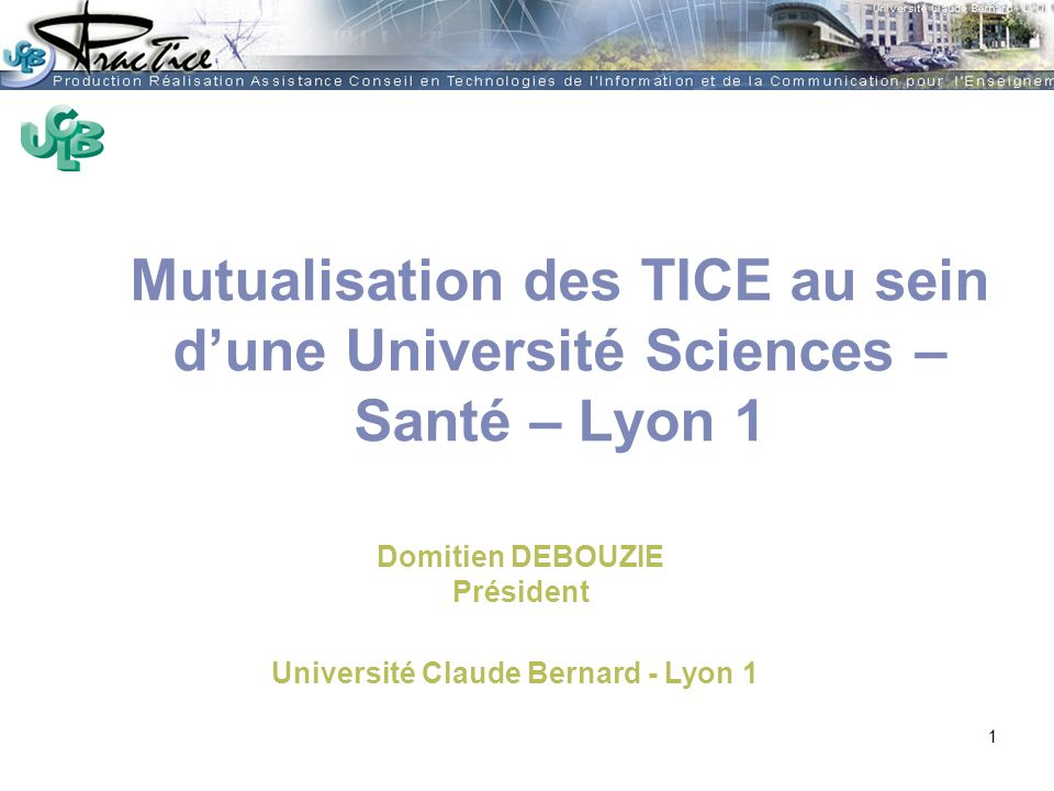 Université Claude Bernard - Lyon 1