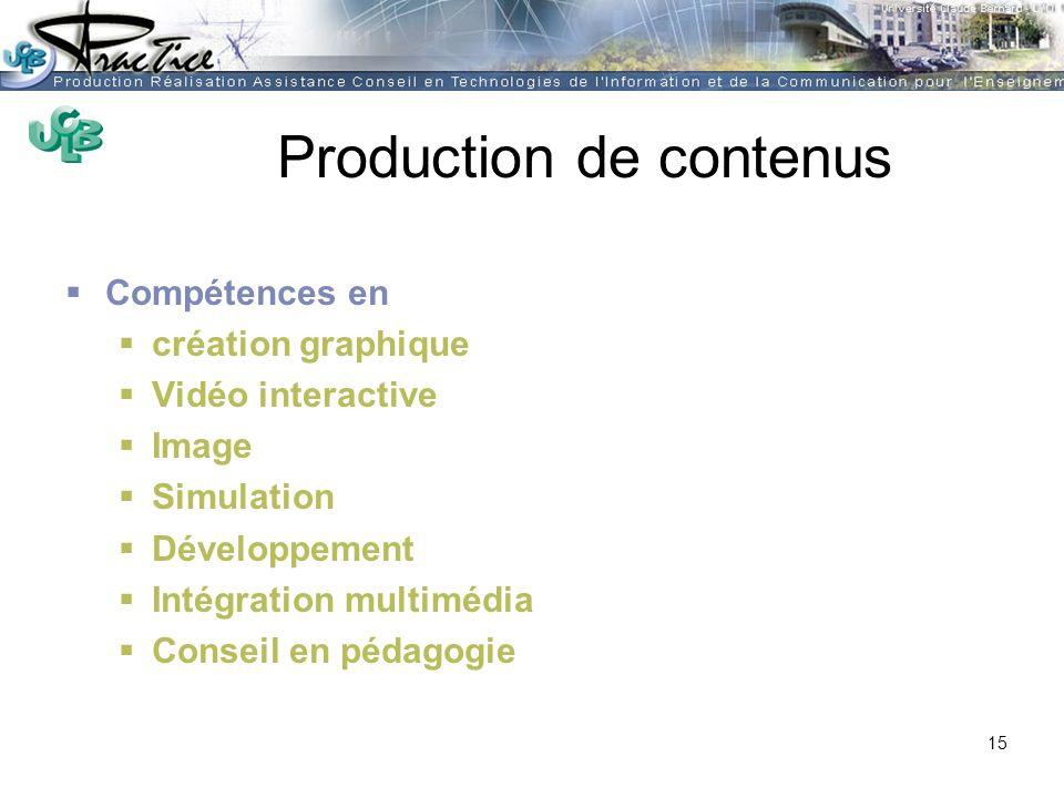 Production de contenus