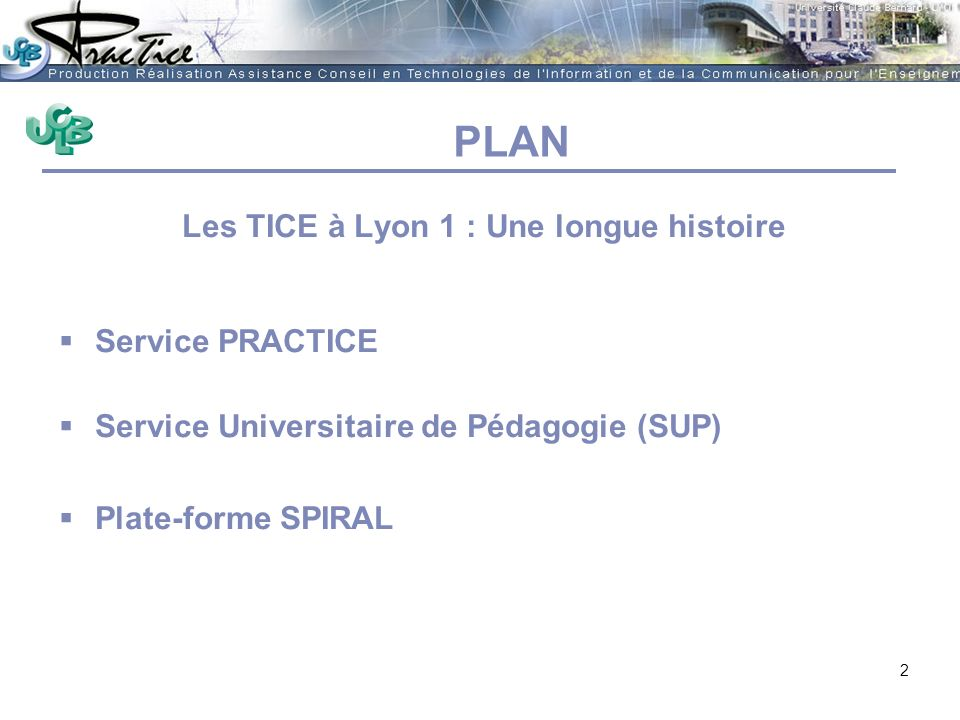 Les TICE à Lyon 1 : Une longue histoire