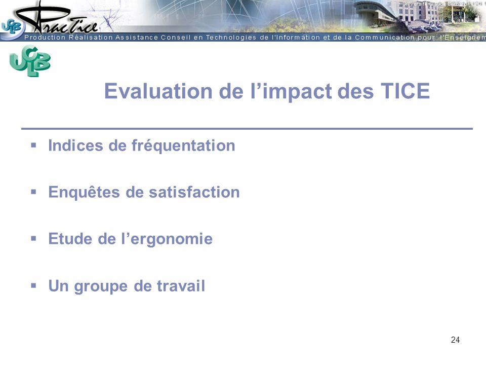 Evaluation de l'impact des TICE