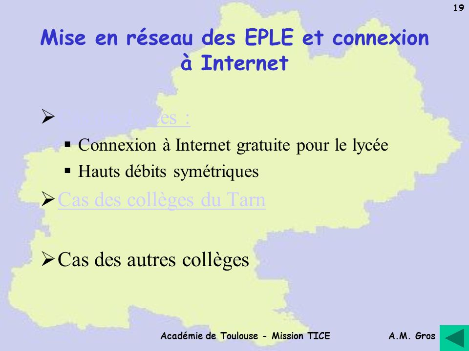 Mise en réseau des EPLE et connexion à Internet