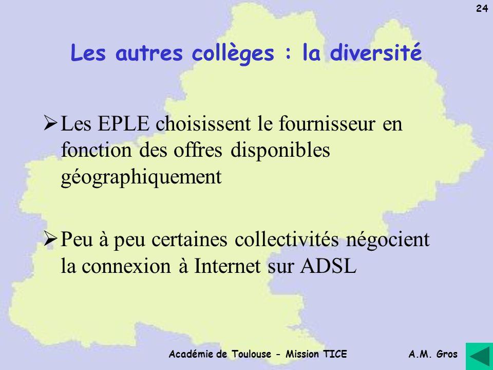 Les autres collèges : la diversité