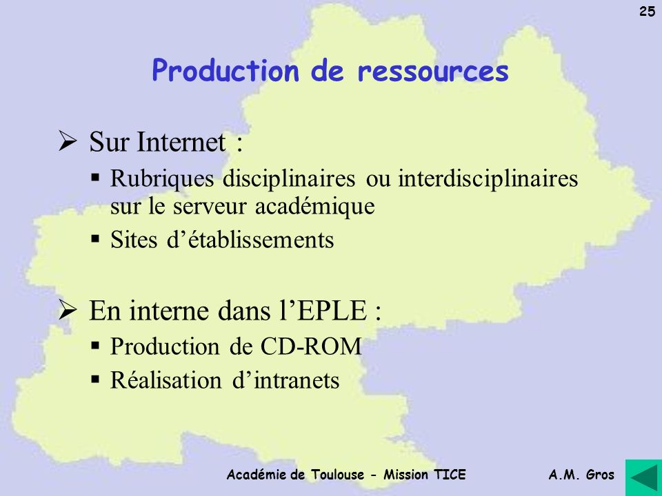 Production de ressources