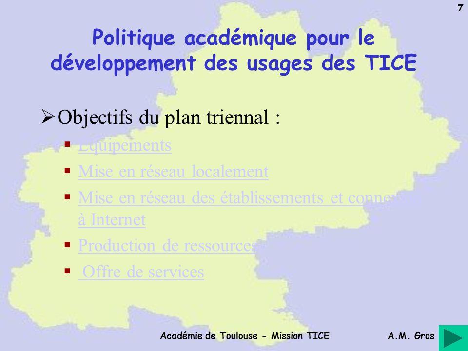 Politique académique pour le développement des usages des TICE