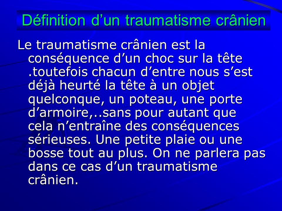 Définition d'un traumatisme crânien