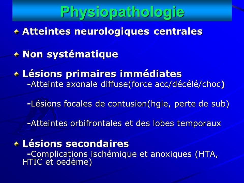Physiopathologie Atteintes neurologiques centrales Non systématique