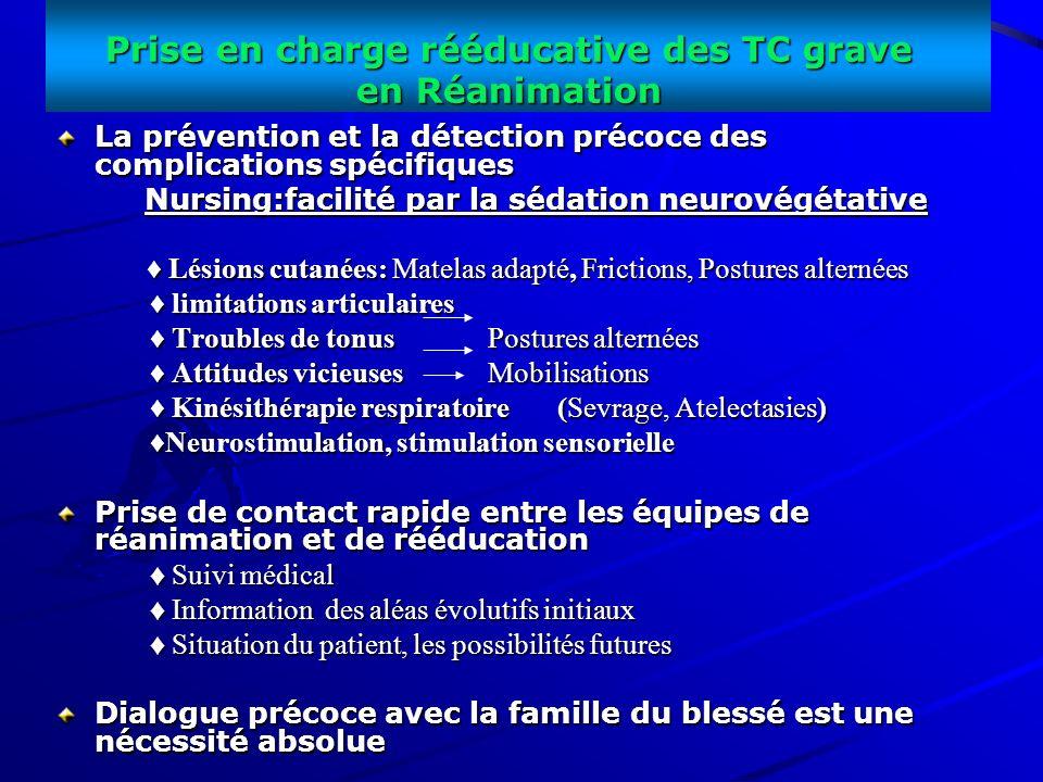 Prise en charge rééducative des TC grave en Réanimation