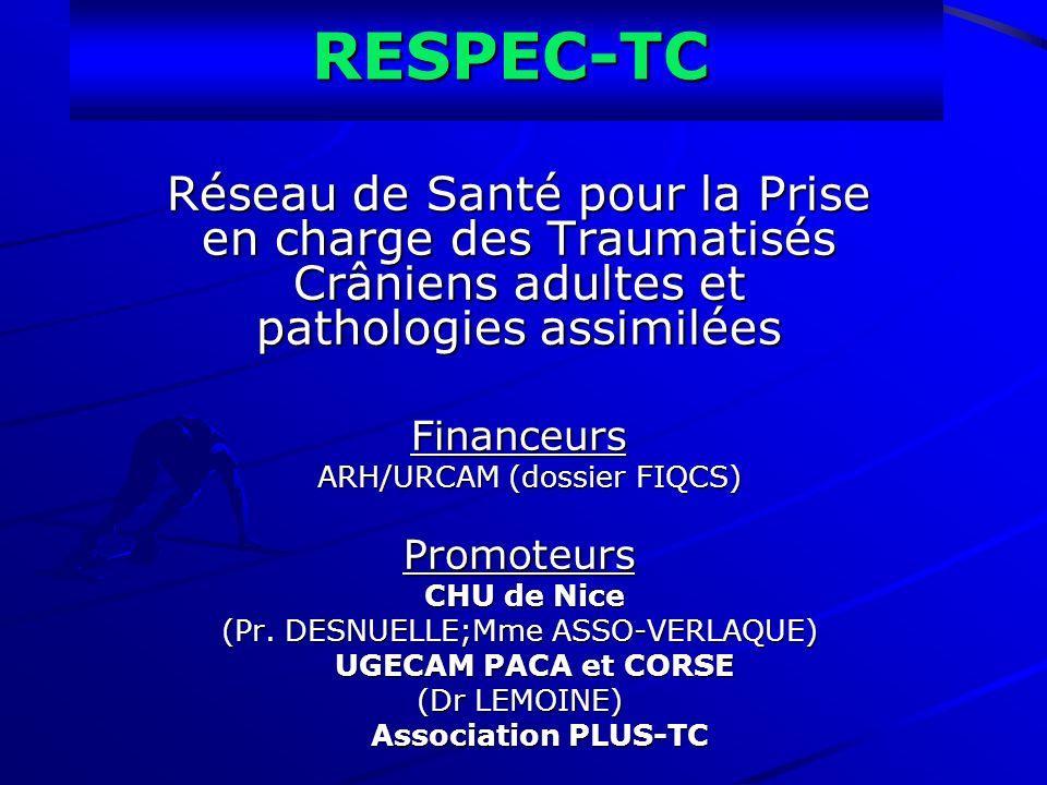 RESPEC-TC Réseau de Santé pour la Prise en charge des Traumatisés Crâniens adultes et pathologies assimilées.