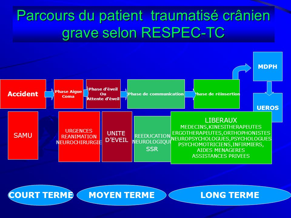Parcours du patient traumatisé crânien grave selon RESPEC-TC