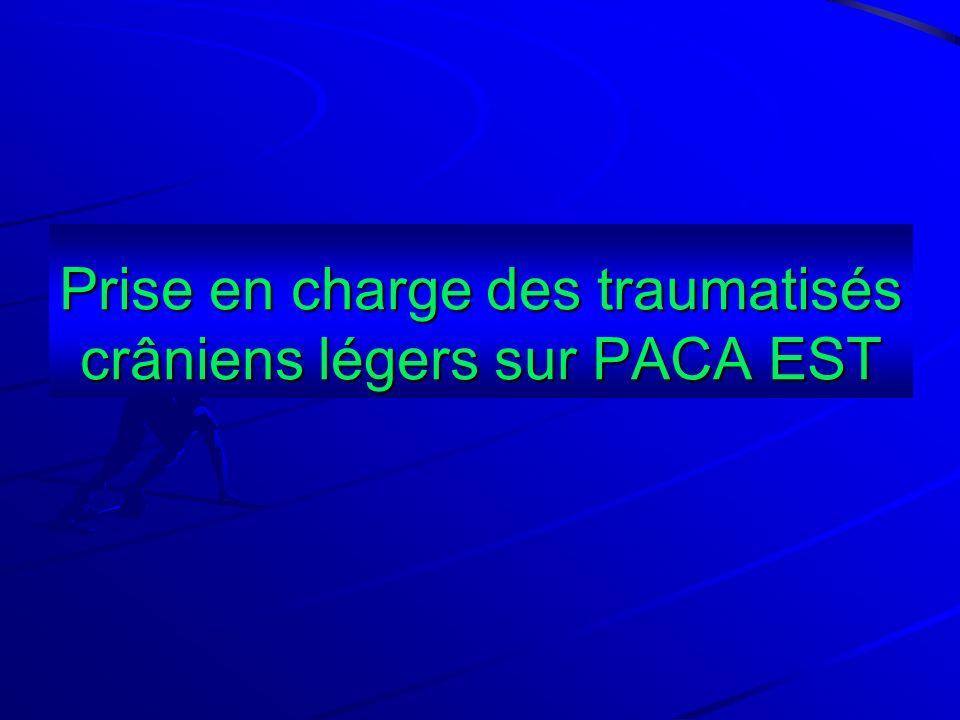 Prise en charge des traumatisés crâniens légers sur PACA EST