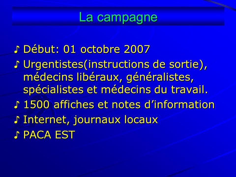 La campagne ♪ Début: 01 octobre 2007
