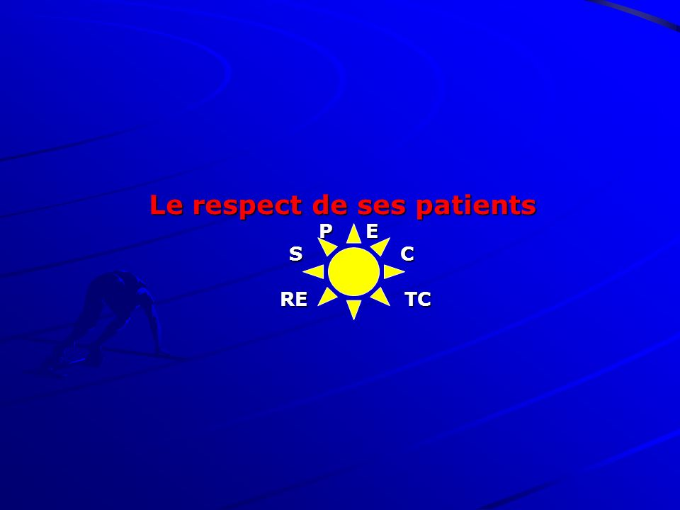 Le respect de ses patients P E S C RE TC