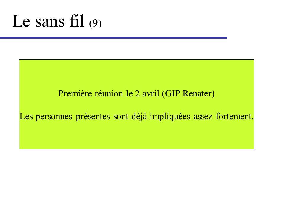 Le sans fil (9) Première réunion le 2 avril (GIP Renater)