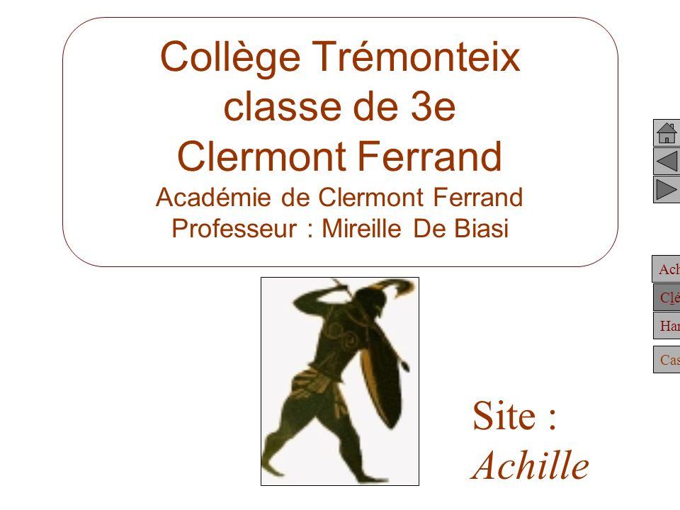 Collège Trémonteix classe de 3e Clermont Ferrand Académie de Clermont Ferrand Professeur : Mireille De Biasi