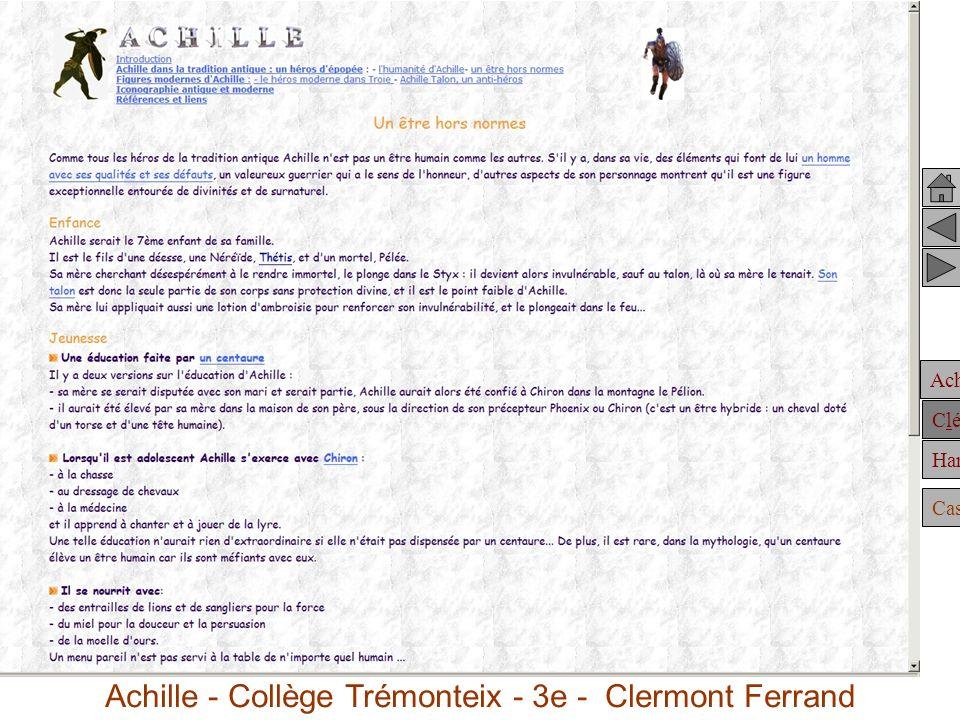 Achille dans la tradition antique :