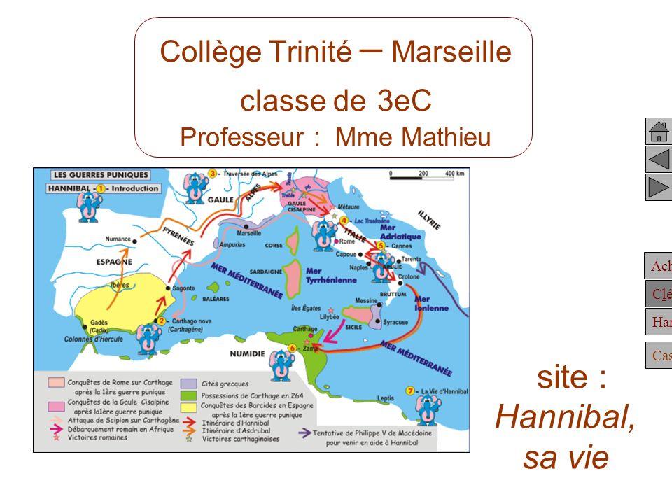 Collège Trinité – Marseille classe de 3eC Professeur : Mme Mathieu