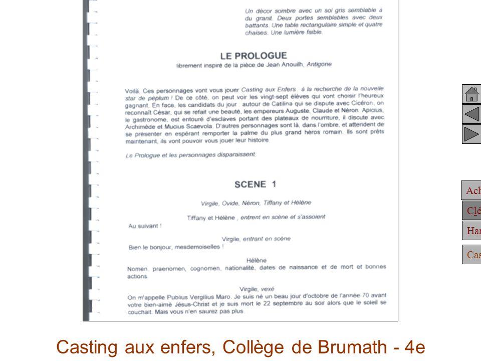 Casting aux enfers, Collège de Brumath - 4e