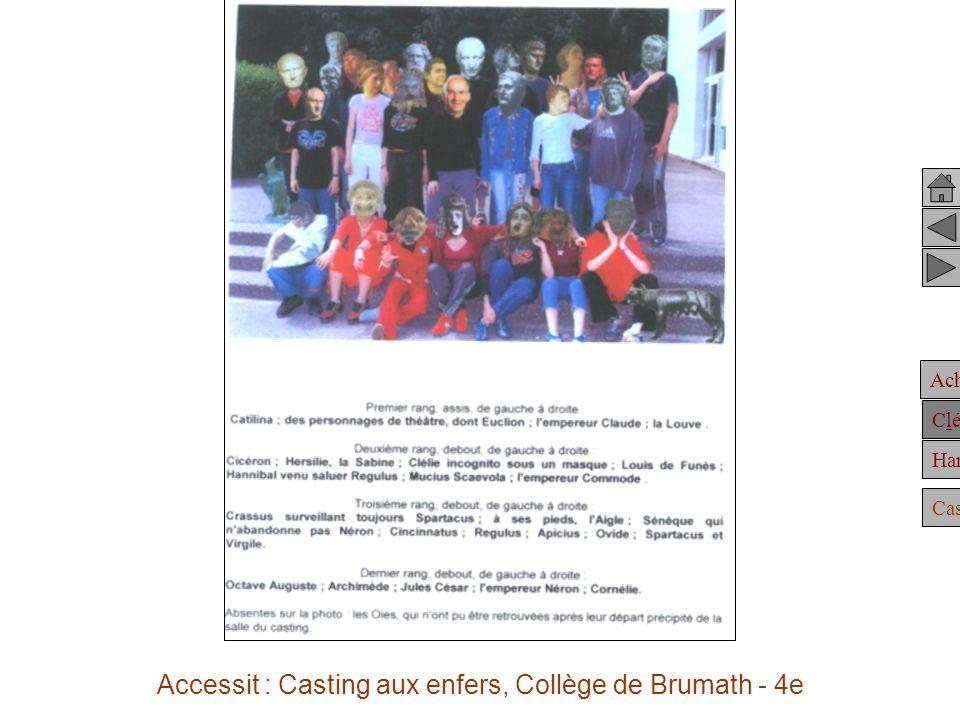 Accessit : Casting aux enfers, Collège de Brumath - 4e