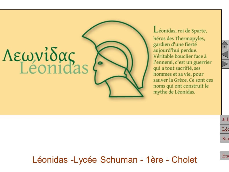 Léonidas -Lycée Schuman - 1ère - Cholet