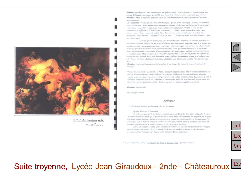 Suite troyenne, Lycée Jean Giraudoux - 2nde - Châteauroux