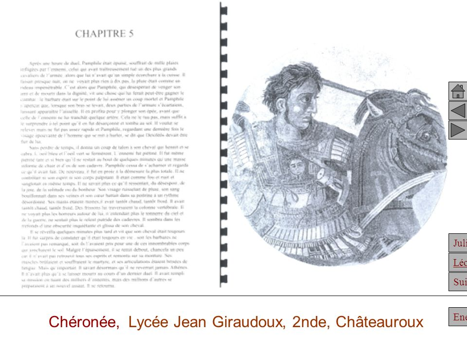 Chéronée, Lycée Jean Giraudoux, 2nde, Châteauroux
