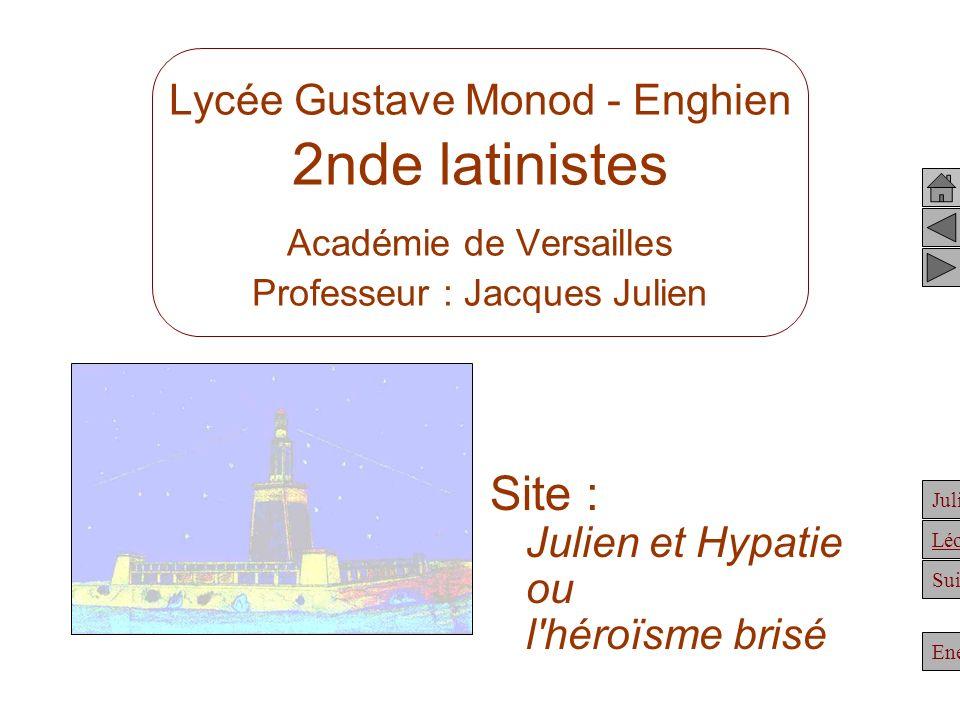Site : Julien et Hypatie ou l héroïsme brisé