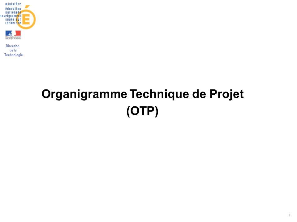 Organigramme Technique de Projet