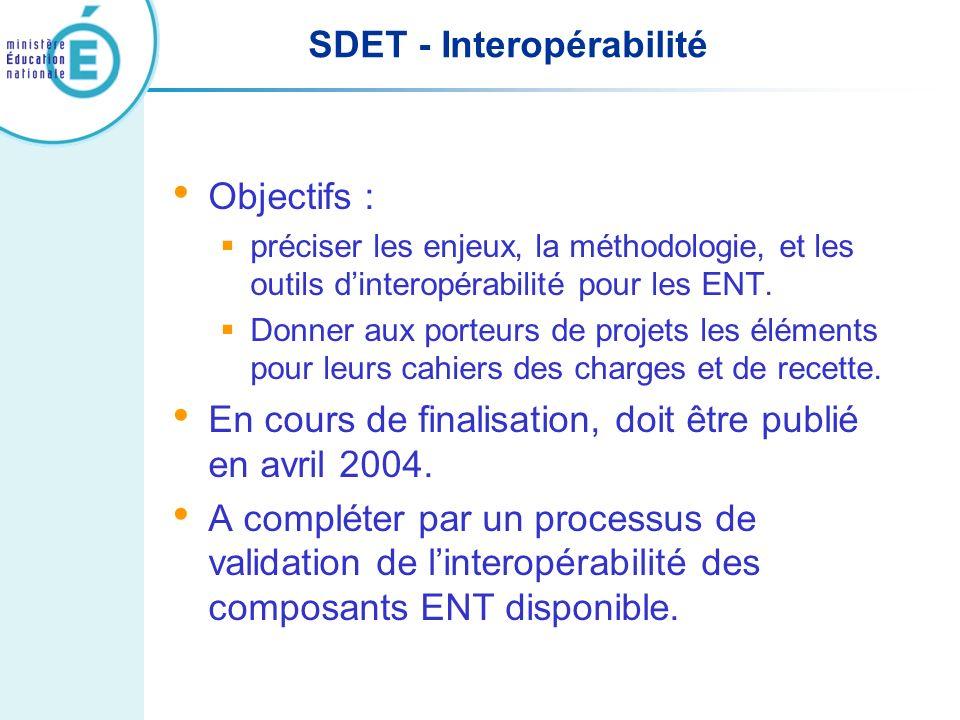 SDET - Interopérabilité