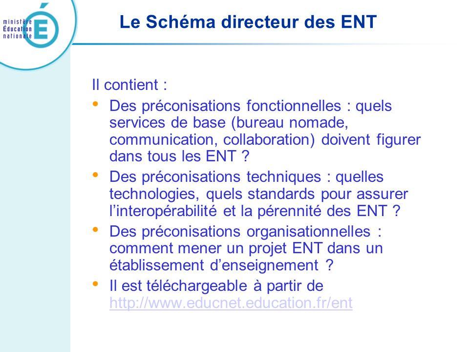 Le Schéma directeur des ENT