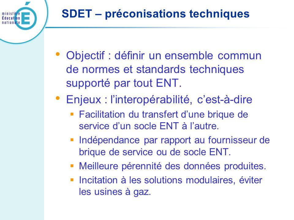 SDET – préconisations techniques
