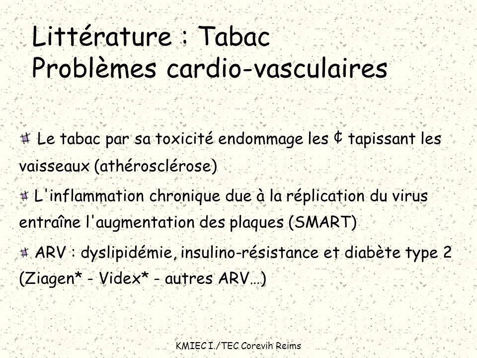 Littérature : Tabac Problèmes cardio-vasculaires