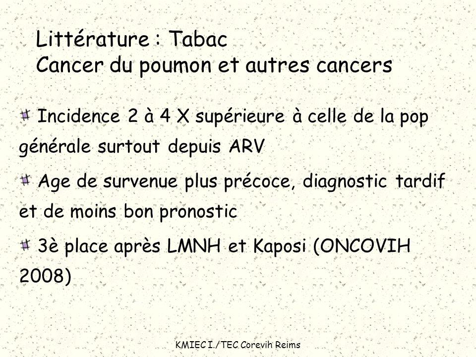 Littérature : Tabac Cancer du poumon et autres cancers