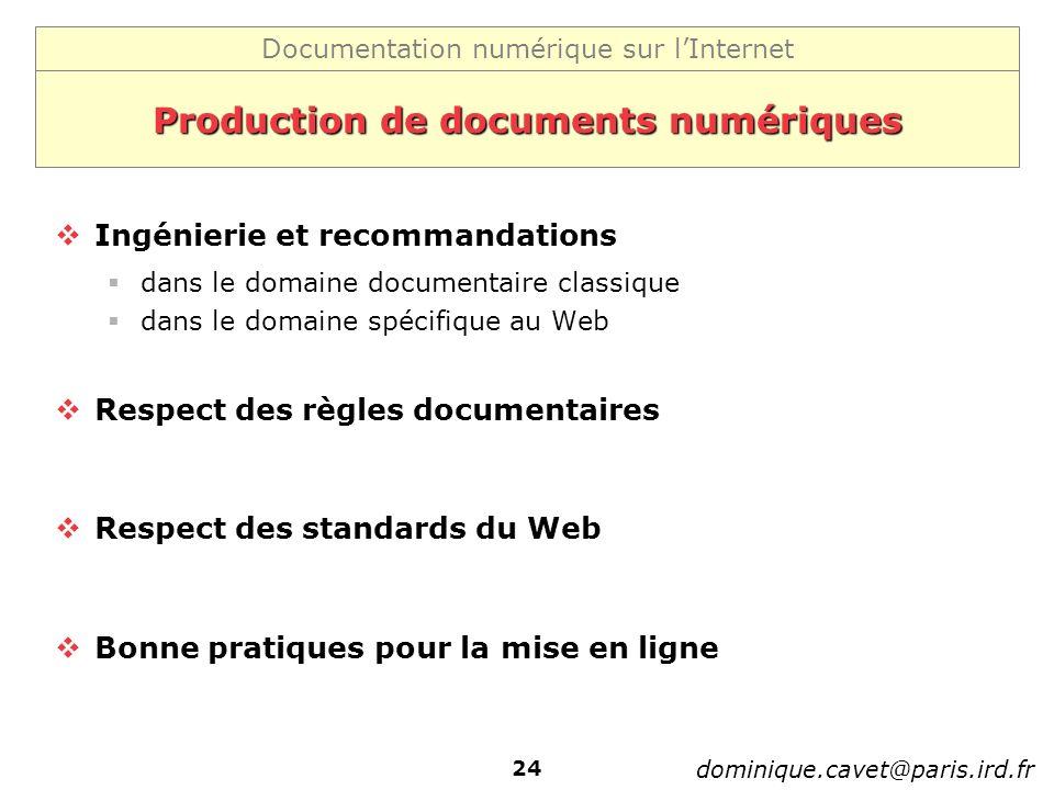 Production de documents numériques