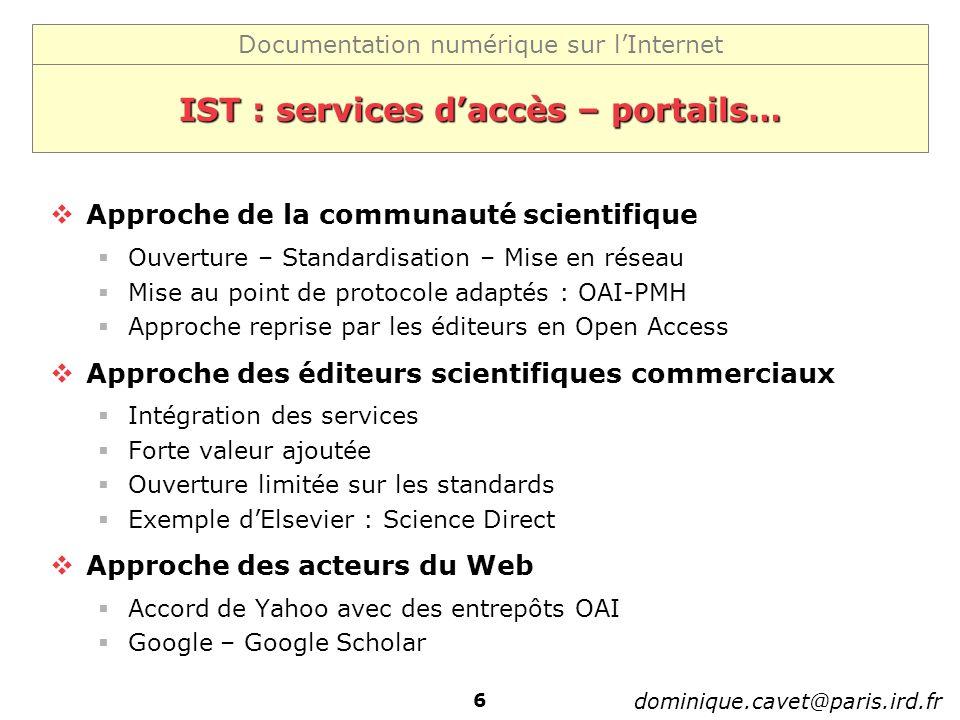 IST : services d'accès – portails…
