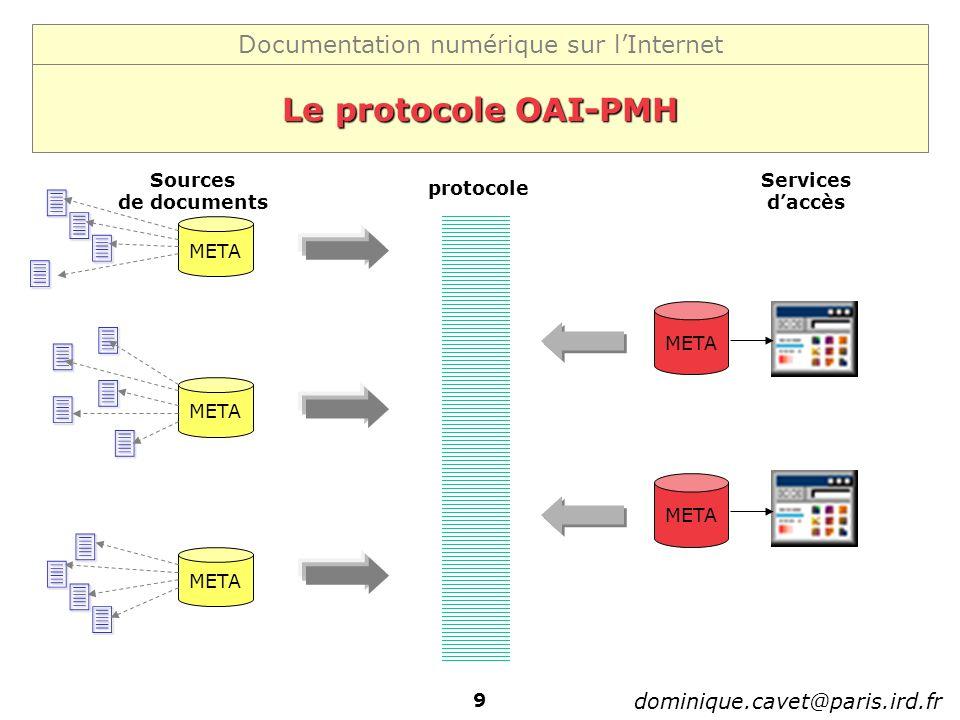              Le protocole OAI-PMH