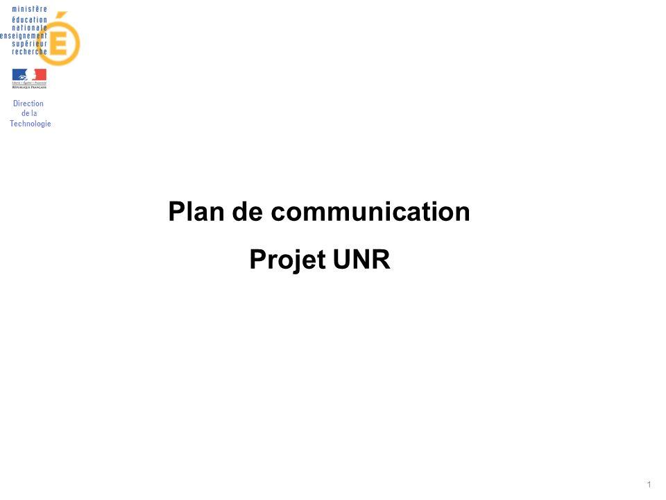 26/03/2017 Plan de communication Projet UNR