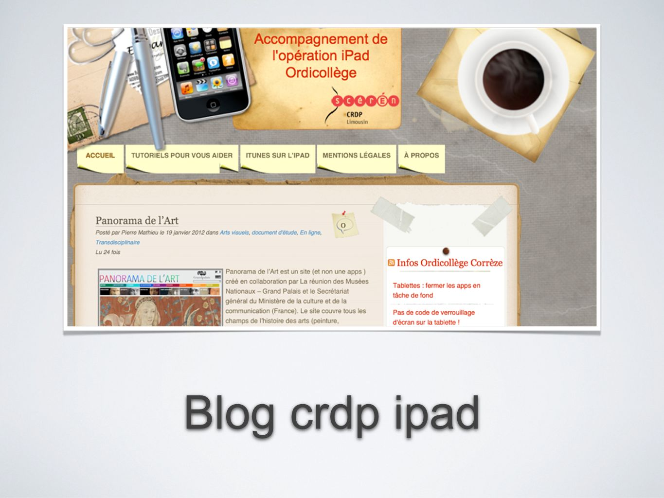 Blog crdp ipad