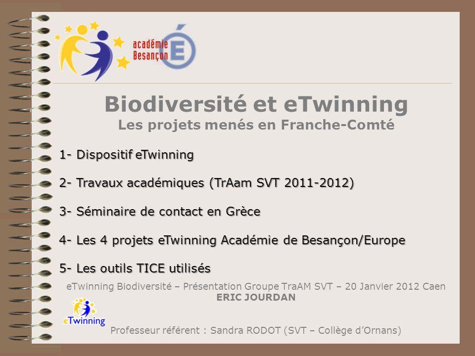 Biodiversité et eTwinning Les projets menés en Franche-Comté