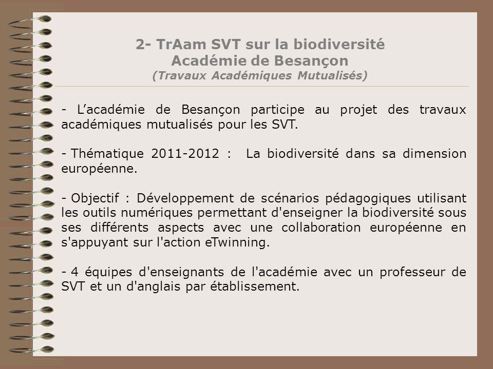 2- TrAam SVT sur la biodiversité (Travaux Académiques Mutualisés)