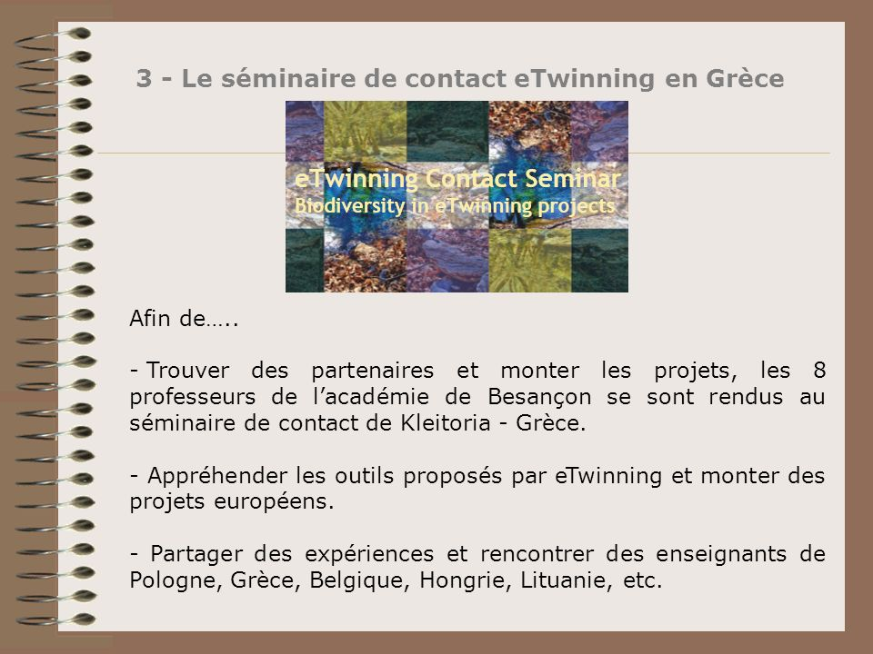 3 - Le séminaire de contact eTwinning en Grèce