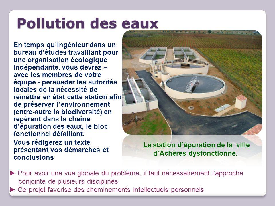 La station d'épuration de la ville d'Achères dysfonctionne.