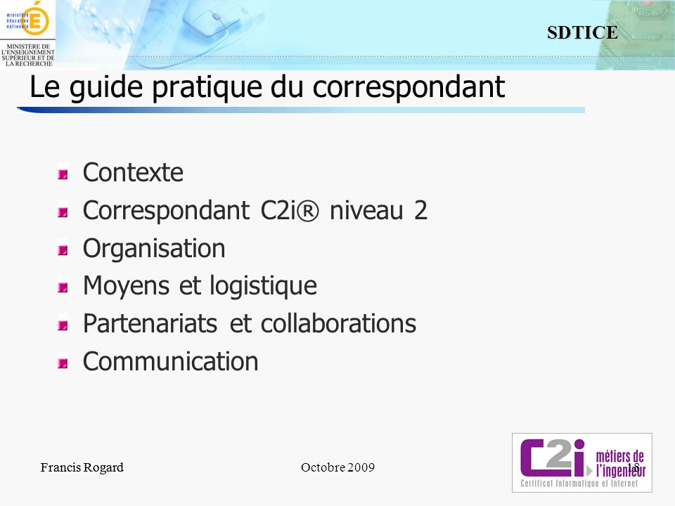 Le guide pratique du correspondant