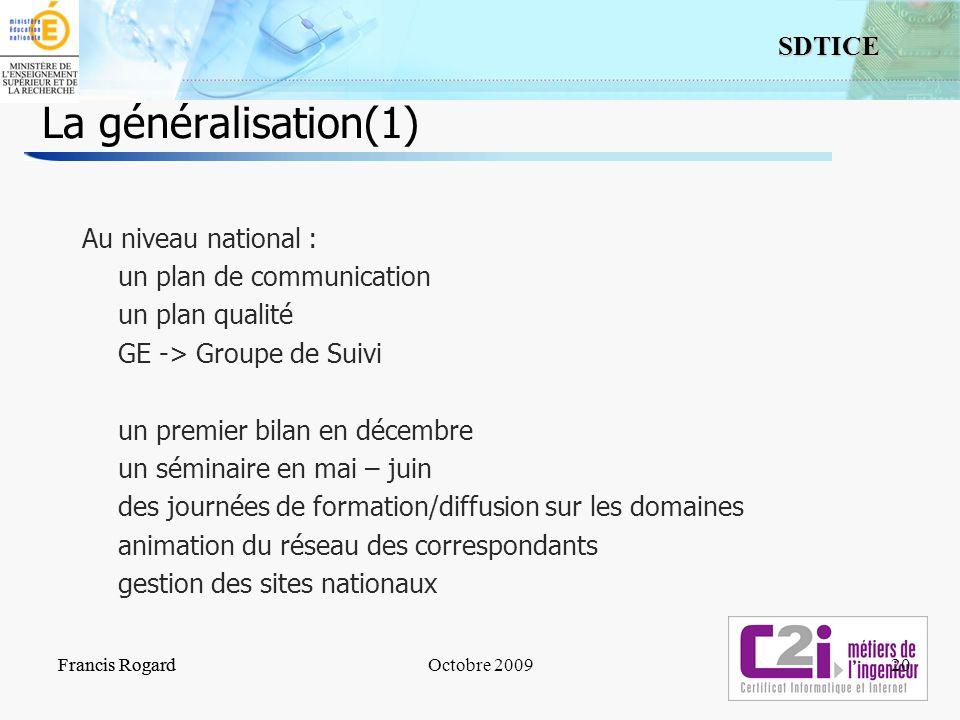 La généralisation(1)