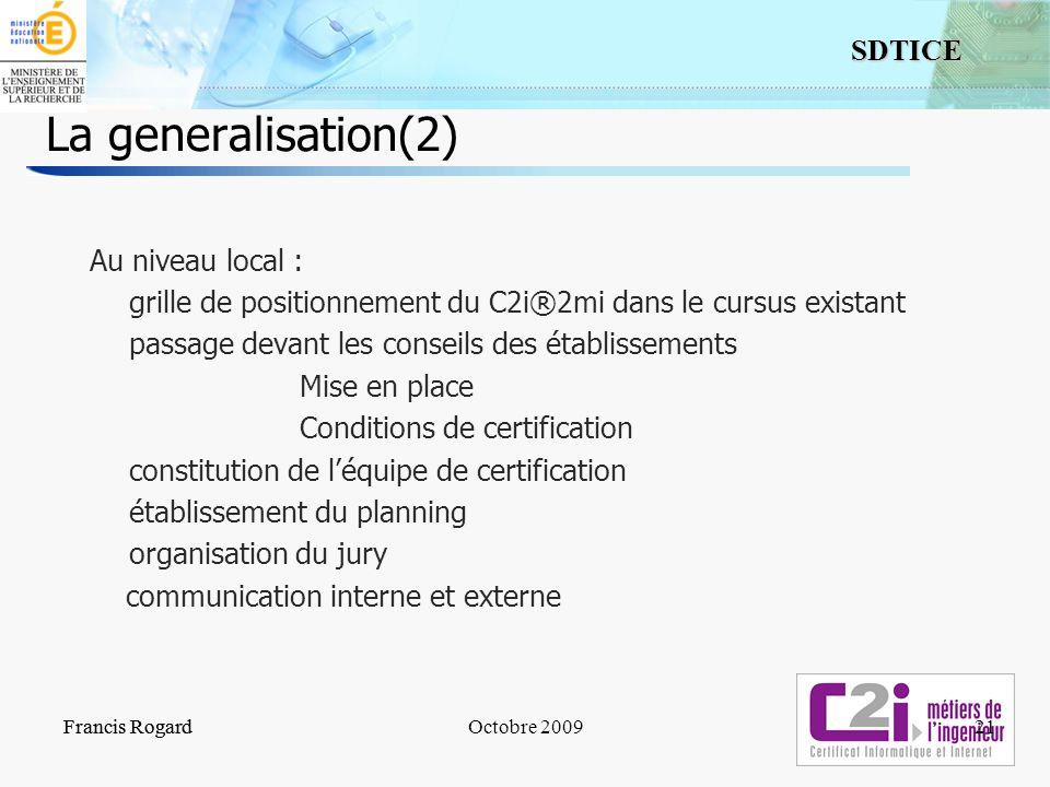 La generalisation(2)